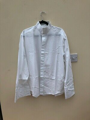 """M&S Wing Collar Evening Shirt  White 16 1/2"""" Double Cuff"""