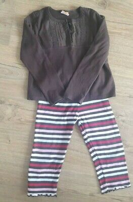 Girls outfit Mini Mode (Boots) top and Gymboree leggings 2-3 years