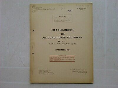 User Handbook for Air Conditioner Equipment Part III (Paperback,1964)