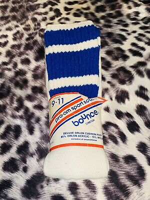 Deadstock 1970s PRO-AM BOUNCE STRETCH CUSHIONED SPORT SOCKS 9-11 MADE IN USA