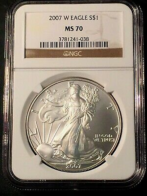 2007 W Silver Eagle MS 70 NGC