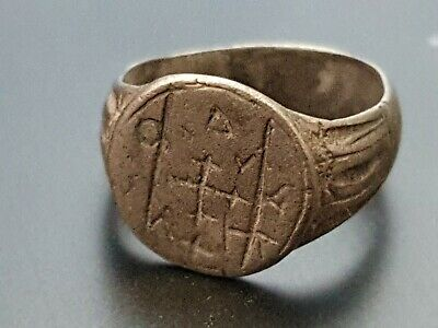 Byzantine Silver decorated ring 7th-9th Century AD