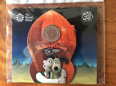 2019 Wallace and Gromit 50p Fifty Pence Coin Royal Mint Presentation Pack
