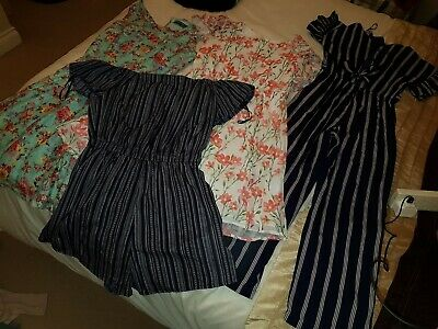 Large Bundle Dresses Tops Cullottes Age 11 To 13 Years or Ladies Size 8 Approx
