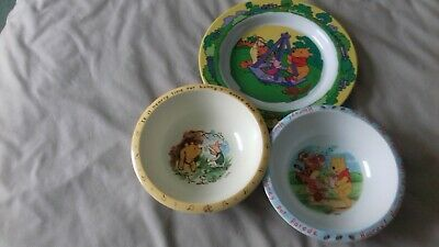 Childrens dishes     and plates   Winnie the pooh and wild animals