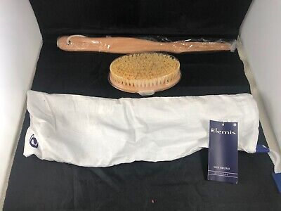 elemis wooden scrub brush bath pure bristle