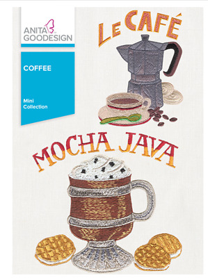 Anita Goodesign Machine Embroidery Collection - Coffee