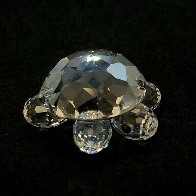 RARE Retired Swarovski Crystal Small Tortoise / Turtle 010033 Mint Boxed