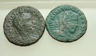 Lot of 2x Ancient Roman Provincial  AE28-30mm coins Viminacium Dacia
