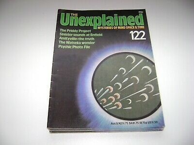 10 THE UNEXPLAINED MAGAZINES~122-123 & 143-150~Mysteries of Mind Space and time