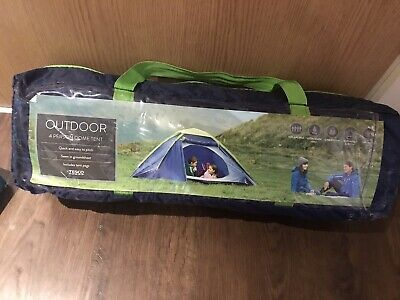 TESCO 4 FOUR Person Dome Tent Brand New £20.00   PicClick UK