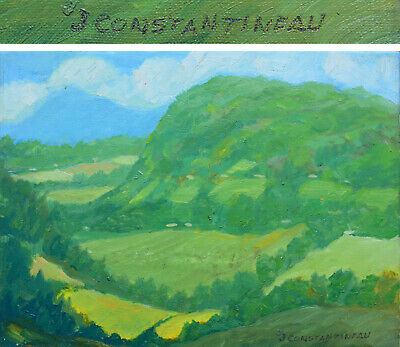 12 x 16 Jean CONSTANTINEAU Listed Artist Original Painting Quebec Oil on Canvas