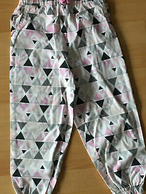Little girls pink print trousers age 3-4 yrs