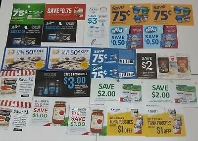 Over $40 in savings coupons Canada only