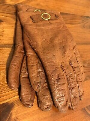 Classic Tan Ladies Leather Gloves - Vintage