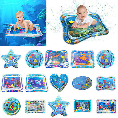 Inflatable Water Mat For Baby Infant Toddlers Mattress Splash Playmat Swimming