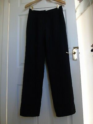 """Vintage Jaeger Navy Blue Lined Wool Trousers ~ 1990s Tailored ~ 27"""" W 30.5"""" Leg"""