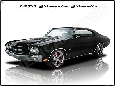 1970 Chevrolet Chevelle SS New Metal Sign: Fully Restored