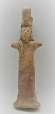 Circa 1000Bce Ancient Near Eastern Terracotta Worshipper Figurine