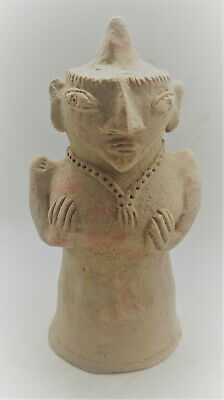Circa 2200-1800Bce Ancient Indus Valley Harappan Terracotta Pillar Idol Rare