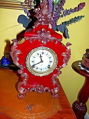 """Ansonia Fully Restored """"Seine"""" 8 Day Ornate Mantle Clock Museum Condition--WOW"""