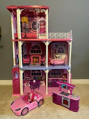 Barbie 3-Story Dream Town House, With working elevator and extras