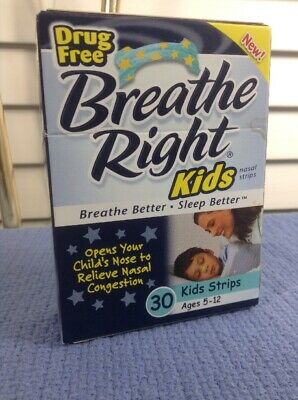 1 Package Breathe Right Kids 30 Ct Pkg Drug Free Ages 5-12