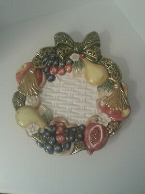 Omnibus by Fitz and Floyd Christmas Canape Plate (1997)