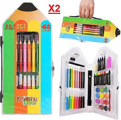 96 Pcs Art Set Childrens/Kids Colouring Drawing Painting Arts & Crafts Case