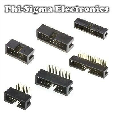IDC Box Header Connector - 10,14,16,20,26,34 Way - Straight/Right Angle - 2.54mm