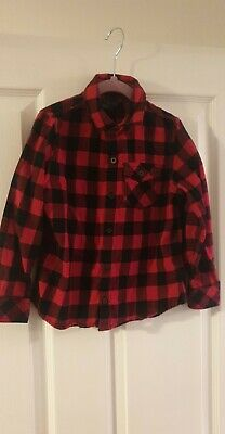 Boys next red & black check shirt age 4-5 years. Great condition