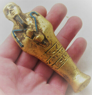 Circa 500Bce Ancient Egyptian Gold Gilded Ushabti Shabti In The Form Of Ptah