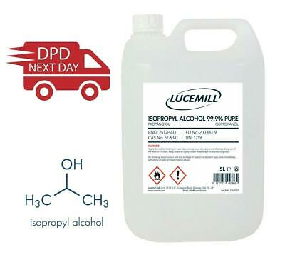 Isopropyl Alcohol 99.9% Pure -  5L Next Day Free Delivery