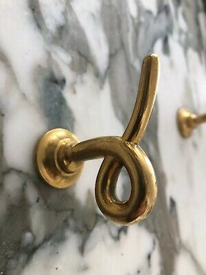 SINGLE Vintage P E G ? Sherle Wagner ? Pig Tail Hook Gold Plated Brass