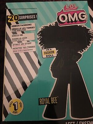 NEW, HTF LOL Surprise OMG Royal Bee Fashion Doll with 20 Surprises