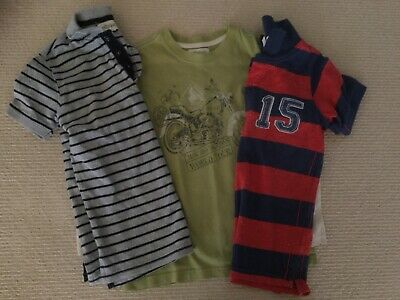 3 X Boys Milkshake And Pumpkin Patch, Size 5, Short And Long Sleeve