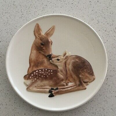 Goebel West Germany/1978 Fourth Edition 'Mothers Series'  Deer & Fawn Wall Plate