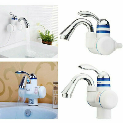 Kitchen Bathroom Electric Hot Water Heater Faucet Instant Heating Tap Q6U1V