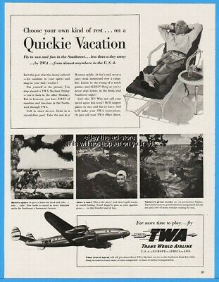 20x30 1948 TWA Trans World Airlines Vintage Style Travel Poster