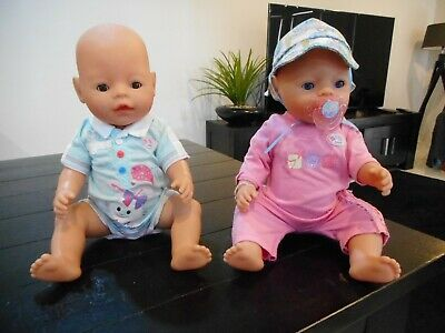 Baby Born Dolls X 2 Including a Boy & Girl - Great Condition
