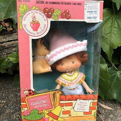 Strawberry Shortcake Vintage Cafe Ole And Burrito Pet Rare New In Box