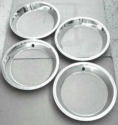(4) 1967 Corvette Factory Trim Rings For Dc Wheels  Excellent Survivors