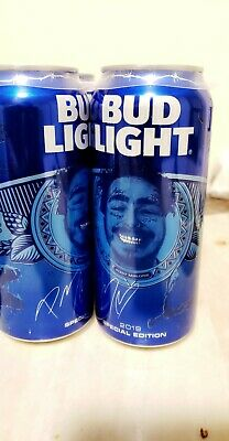 Special Edition 2019 Post Malone Bud Light 16oz Beer Can Hollywood's Bleeding