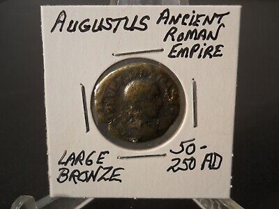 Augustus Roman Empire Coin Ancient C.50-250 Ad Large Bronze