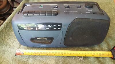 Vintage Phillips Radio Cassette Player,AQ4050.old,tape,tool,house,garage,parts.