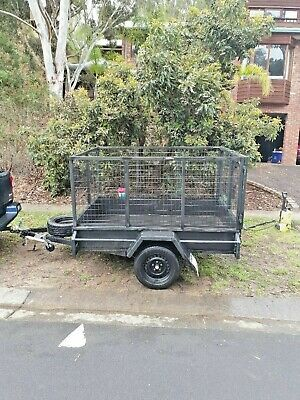 7x5 box trailer with 900mm cage and bonus enclosed box