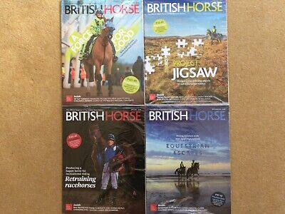4 x British Horse Society Magazines 2019 Still in wrappers