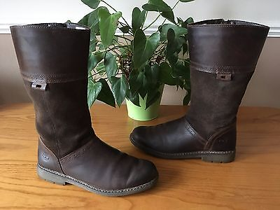 Ladies Timberland Earthkeepers brown leather suede under knee boots UK 4 EU 37