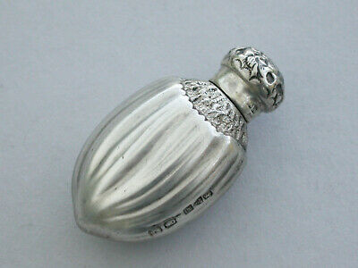 Victorian Novelty Silver Hazelnut Scent Bottle Saunders & Shepherd, Chester 1891