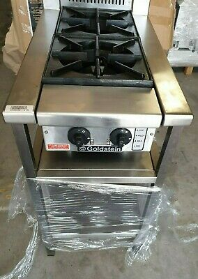 GOLDSTEIN LPG 2 BURNER Commercial Restaurant Stove Cooktop on Stand almost new